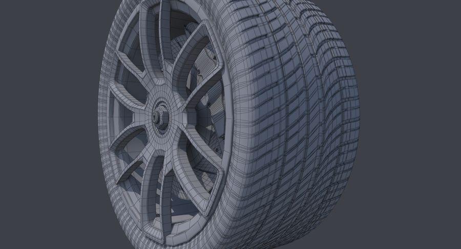 赛车轮 royalty-free 3d model - Preview no. 11