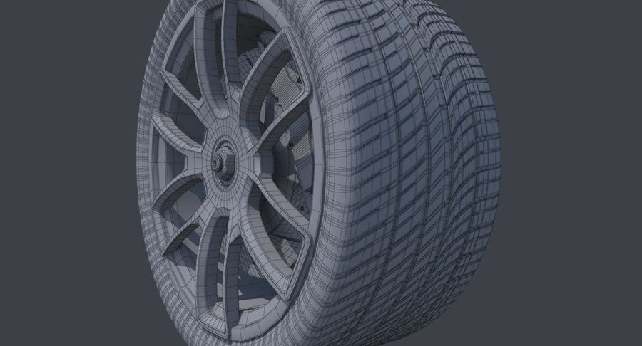 Rueda de carreras royalty-free modelo 3d - Preview no. 11