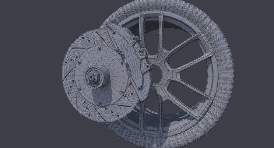 Racing Wheel royalty-free 3d model - Preview no. 12