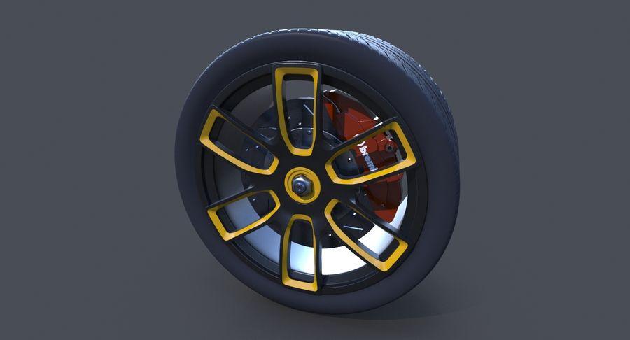 赛车轮 royalty-free 3d model - Preview no. 4