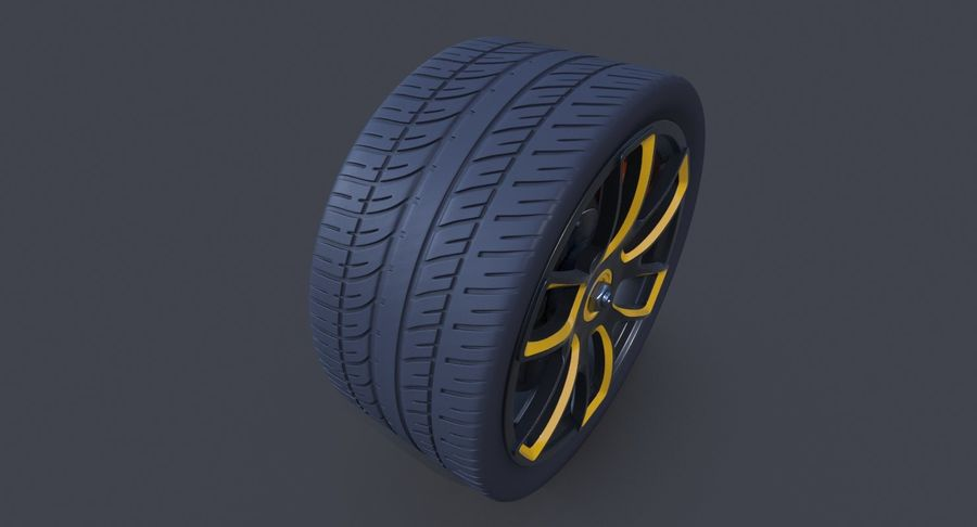 Racing Wheel royalty-free 3d model - Preview no. 5