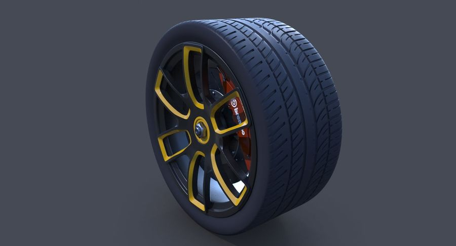 Racing Wheel royalty-free 3d model - Preview no. 6