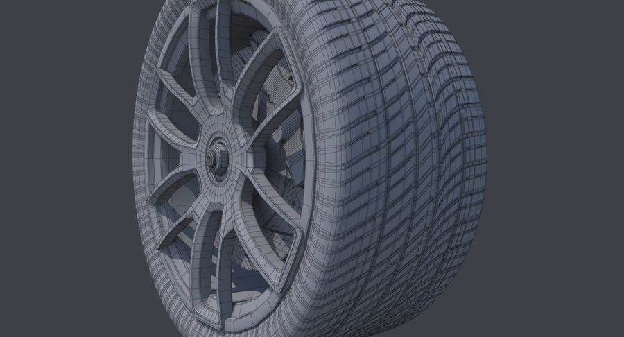 Racing Wheel royalty-free 3d model - Preview no. 11
