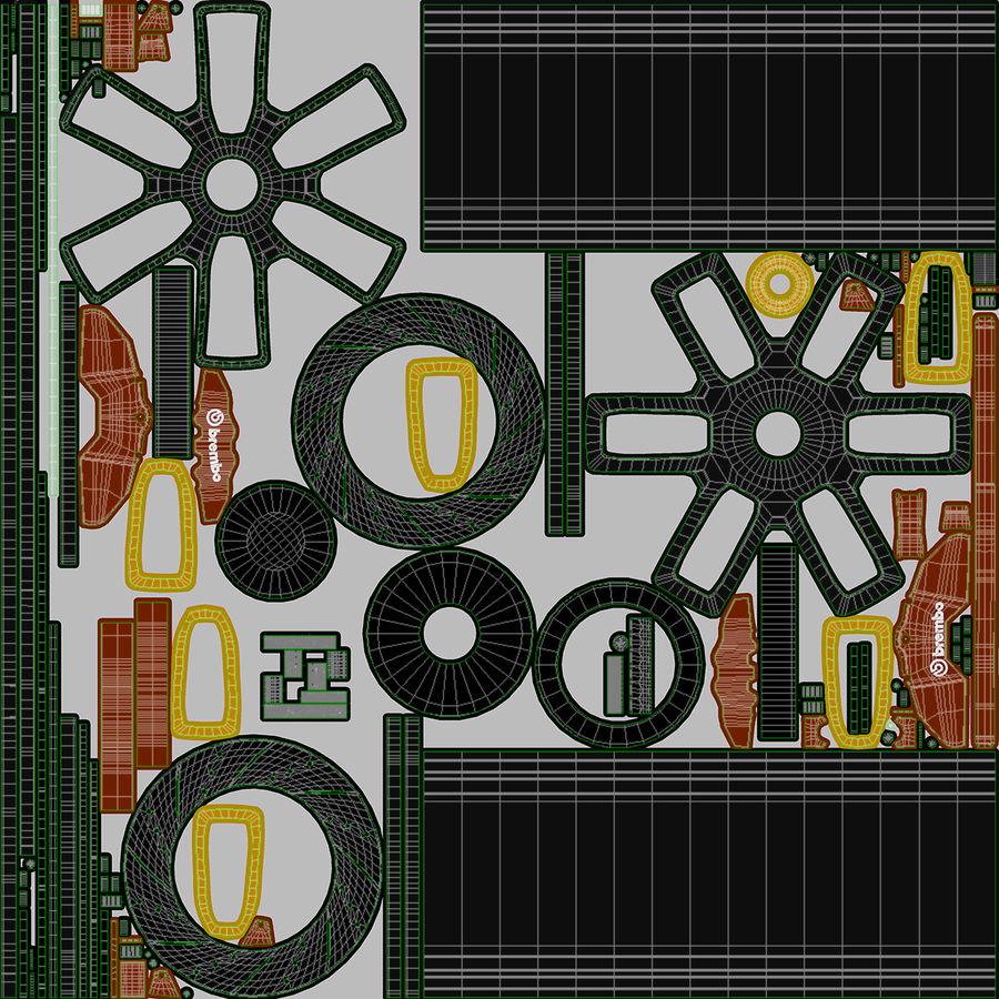 Rueda de carreras royalty-free modelo 3d - Preview no. 13