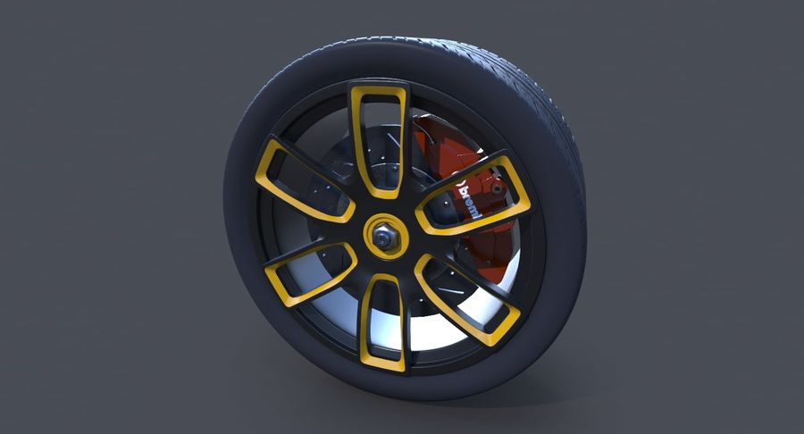 Racing Wheel royalty-free 3d model - Preview no. 4