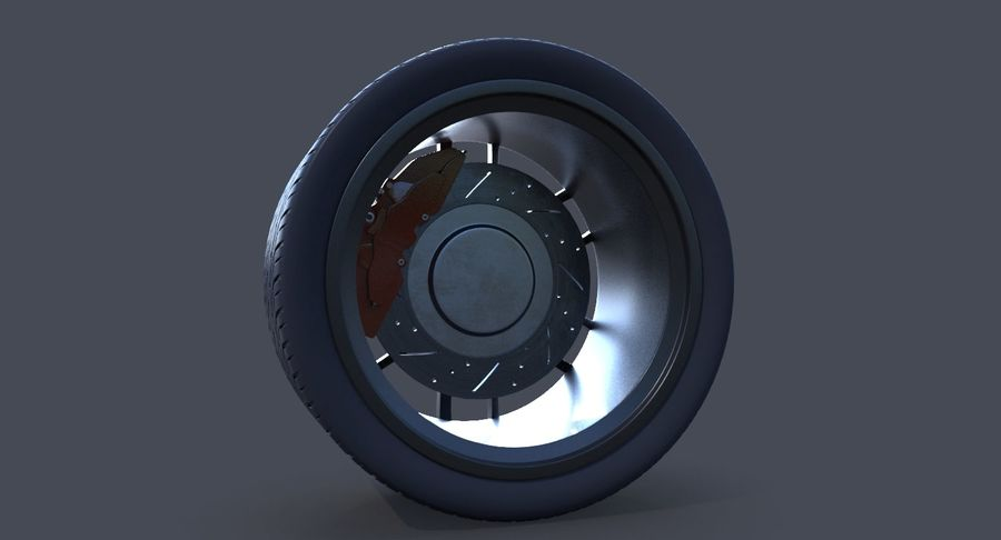 Racing Wheel royalty-free 3d model - Preview no. 8