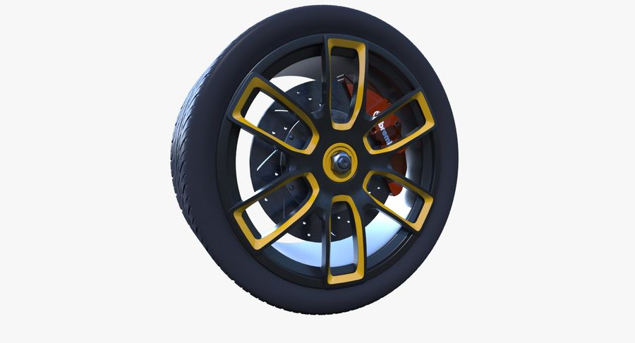 Racing Wheel royalty-free 3d model - Preview no. 2