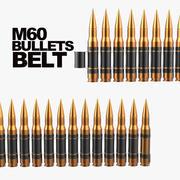 Bullets Belt 3d model