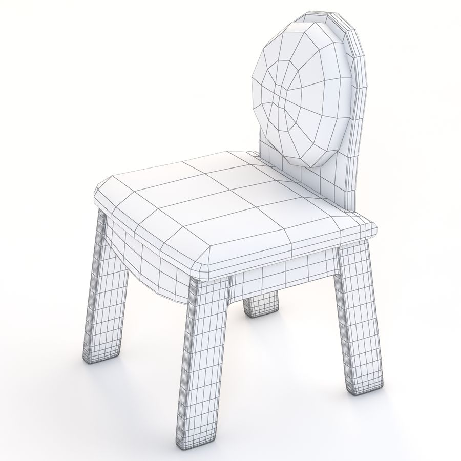 Детское кресло Junior 200 royalty-free 3d model - Preview no. 8