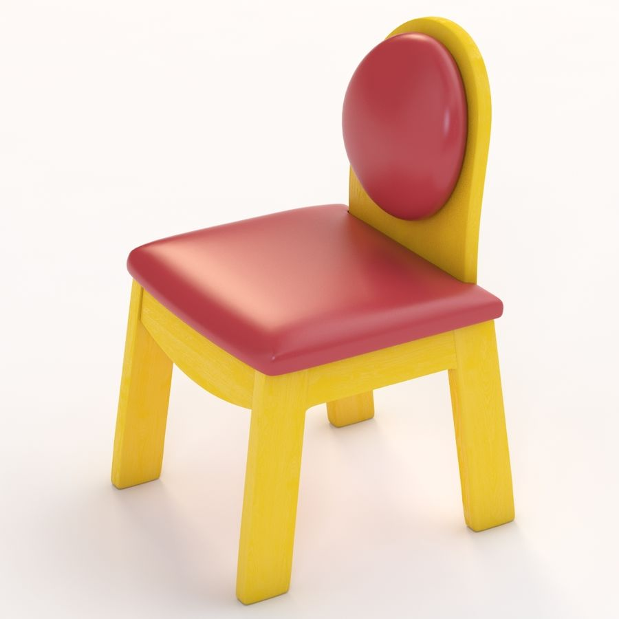 Детское кресло Junior 200 royalty-free 3d model - Preview no. 7