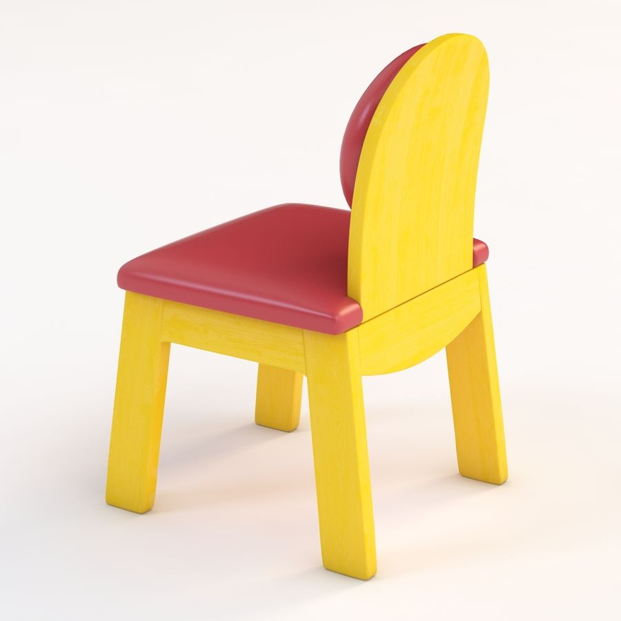 Детское кресло Junior 200 royalty-free 3d model - Preview no. 3