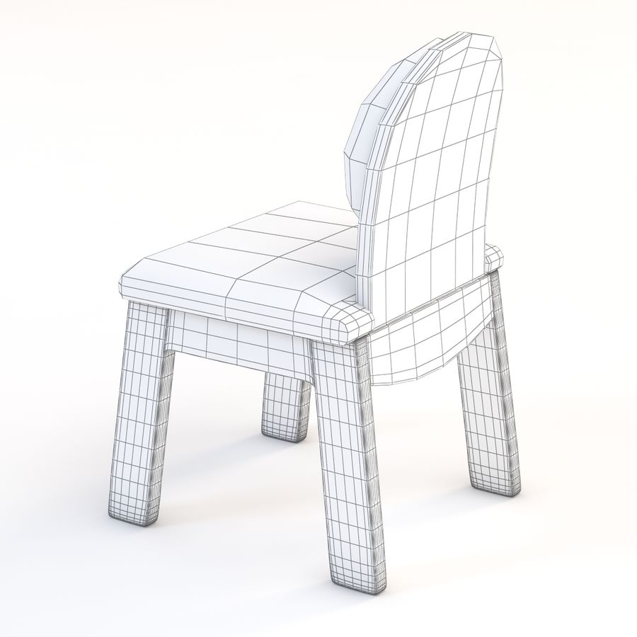 Детское кресло Junior 200 royalty-free 3d model - Preview no. 4