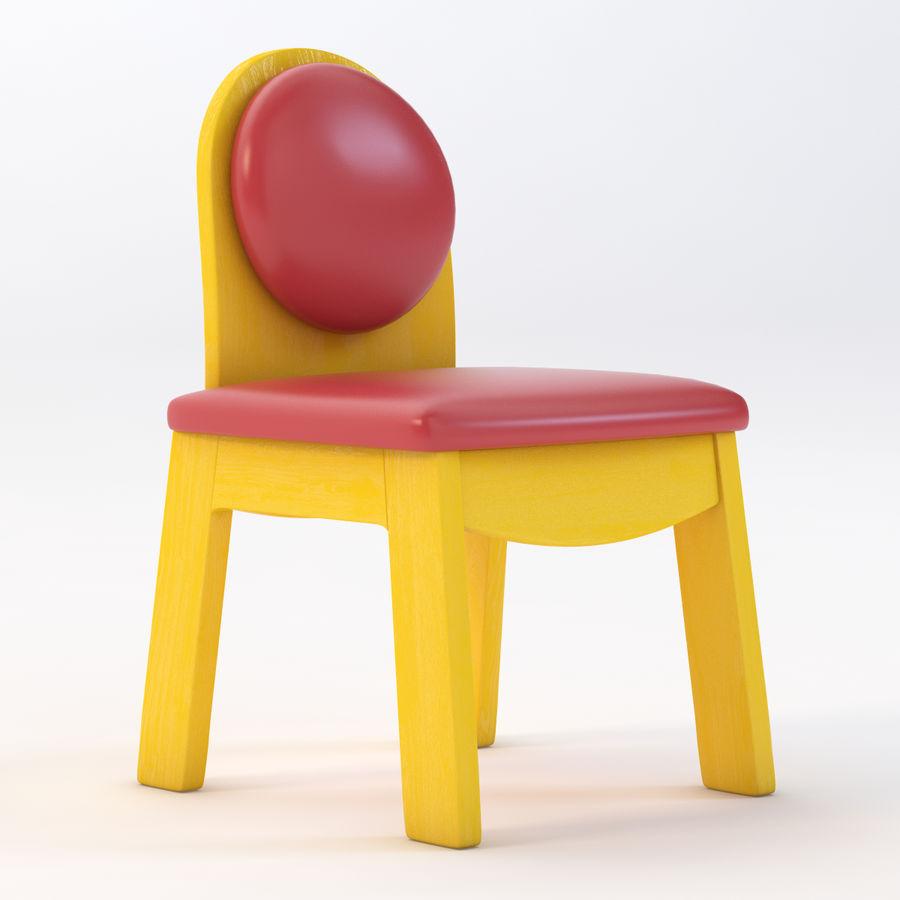 Детское кресло Junior 200 royalty-free 3d model - Preview no. 2