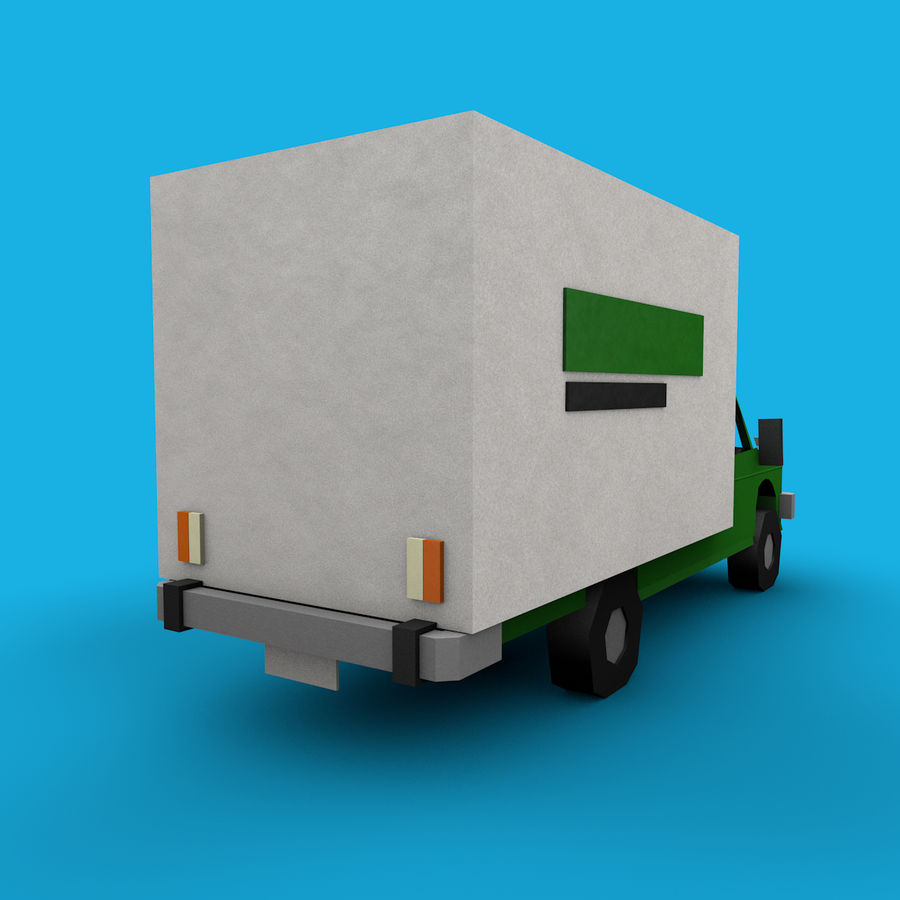 Paper vehicles (cartoon) royalty-free 3d model - Preview no. 14