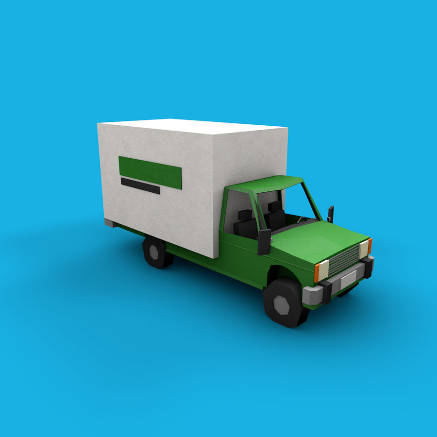 Paper vehicles (cartoon) royalty-free 3d model - Preview no. 15