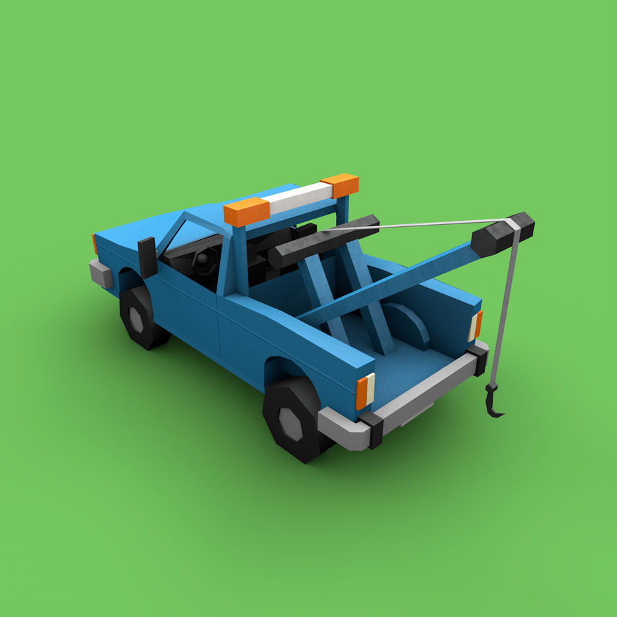 Paper vehicles (cartoon) royalty-free 3d model - Preview no. 11