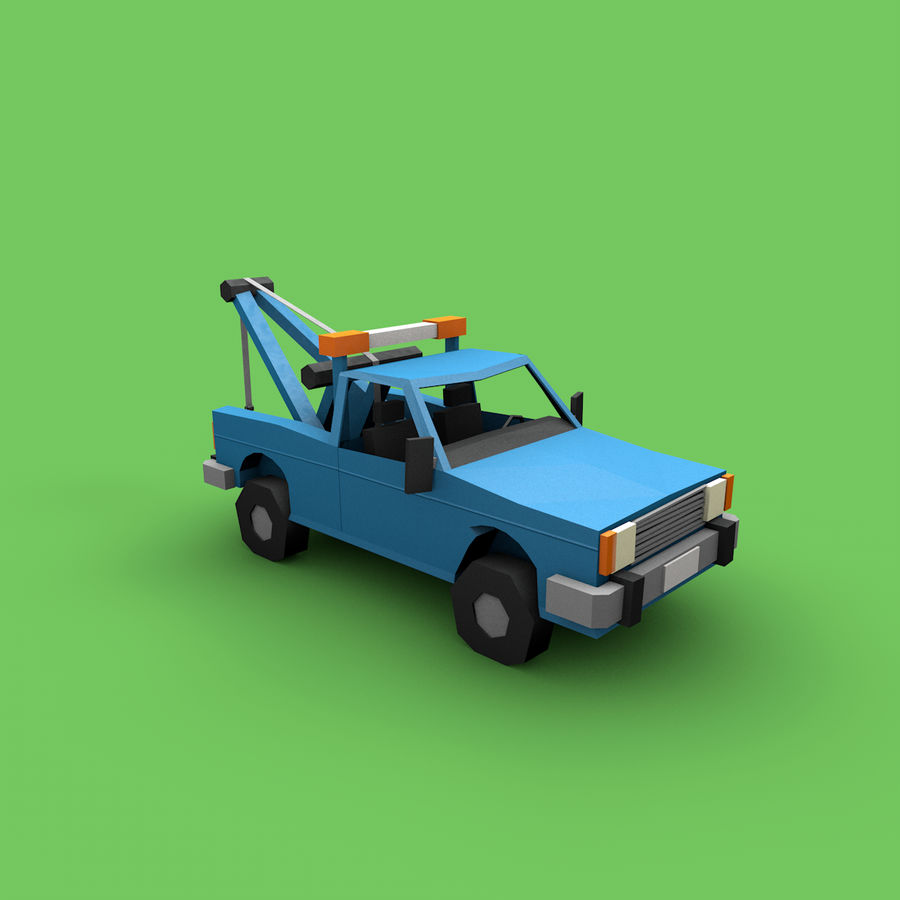 Paper vehicles (cartoon) royalty-free 3d model - Preview no. 12
