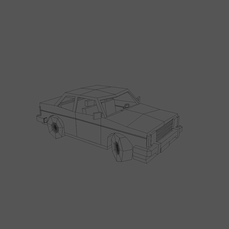 Paper vehicles (cartoon) royalty-free 3d model - Preview no. 10