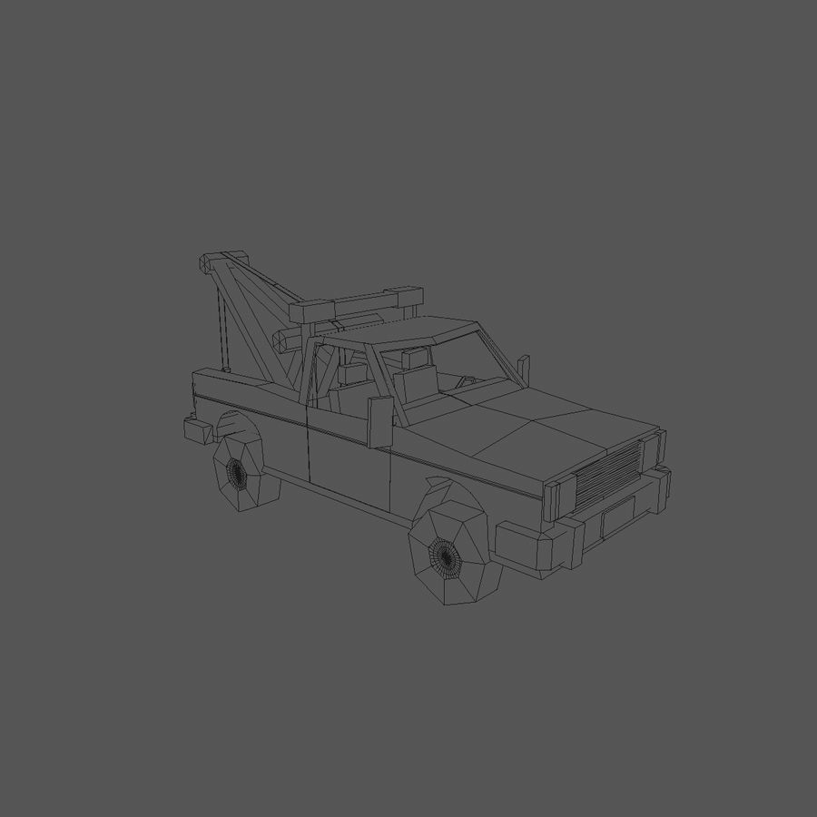 Paper vehicles (cartoon) royalty-free 3d model - Preview no. 13