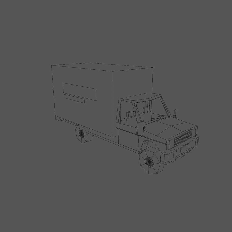 Paper vehicles (cartoon) royalty-free 3d model - Preview no. 16