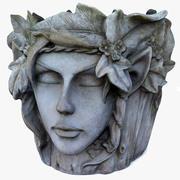 顔の植木鉢 3d model