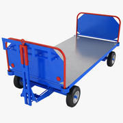 Carrinho de bagagem do aeroporto 02 3d model