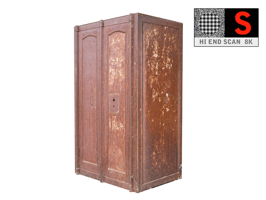 Wardrobe Abandoned factory royalty-free 3d model - Preview no. 1
