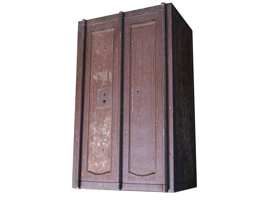 Wardrobe Abandoned factory royalty-free 3d model - Preview no. 4