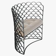 Hyper Realistic Arteriors Vero Contemporary Chair 3d model