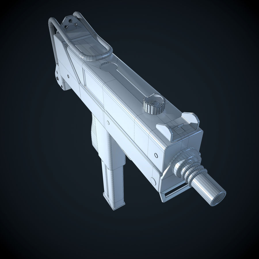 Mac 10-pistol royalty-free 3d model - Preview no. 6
