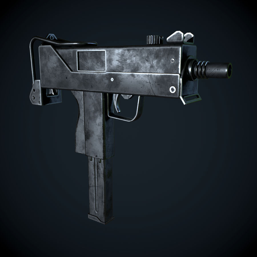 Mac 10-pistol royalty-free 3d model - Preview no. 3