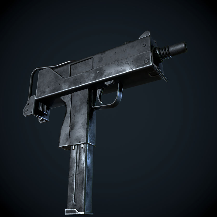 Mac 10-pistol royalty-free 3d model - Preview no. 1