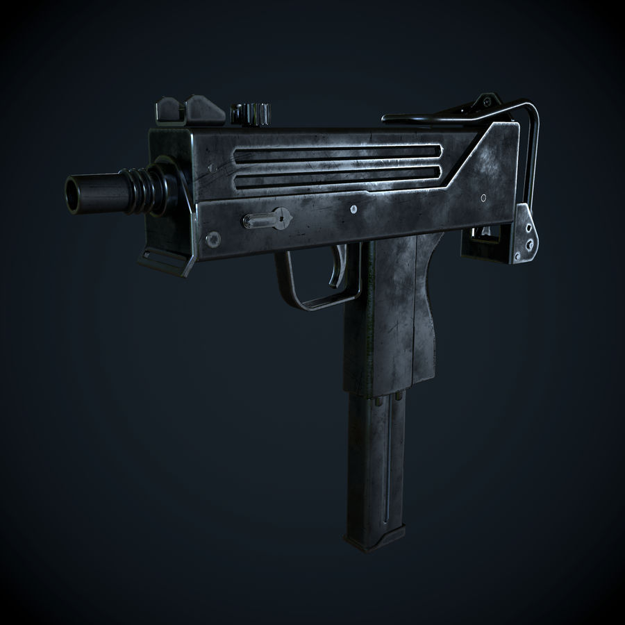 Mac 10-pistol royalty-free 3d model - Preview no. 2