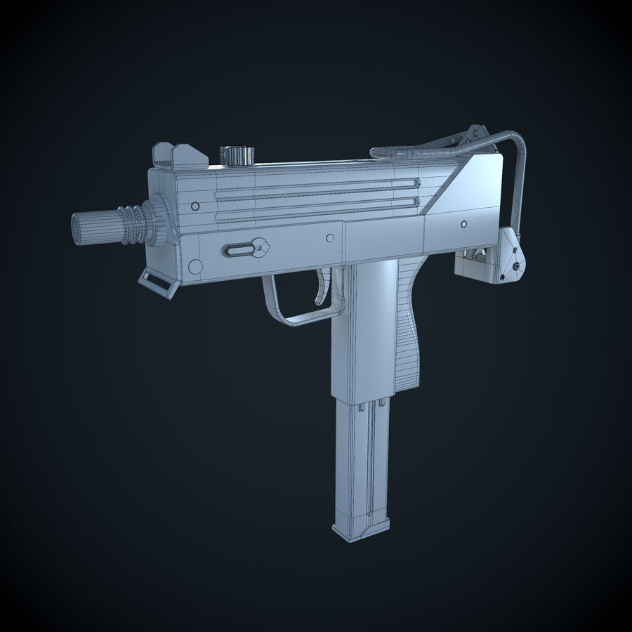 Mac 10-pistol royalty-free 3d model - Preview no. 5