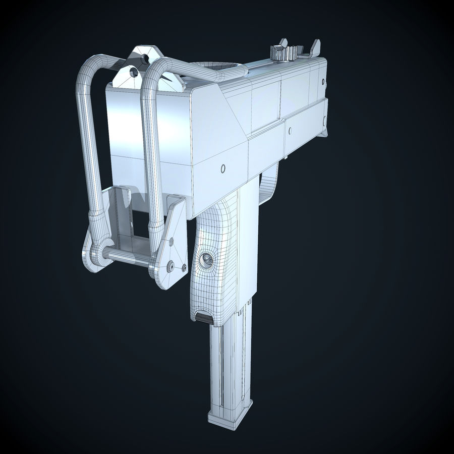 Mac 10-pistol royalty-free 3d model - Preview no. 7