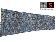 Balayage de mur de pierre 16K 3d model