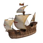 Корабль карабела 3d model