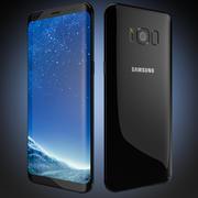 Samsung Galaxy S8 Black 2017 Flagship 3d model