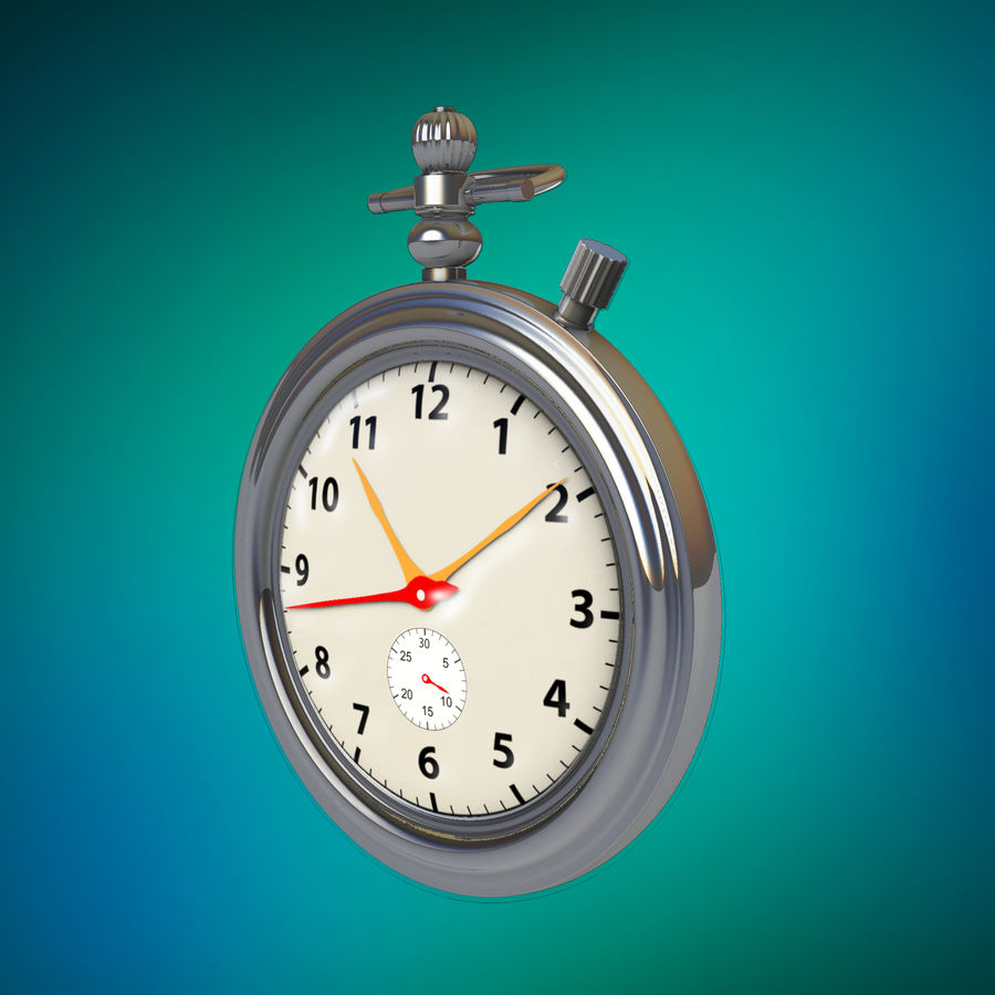 StopWatch royalty-free 3d model - Preview no. 7