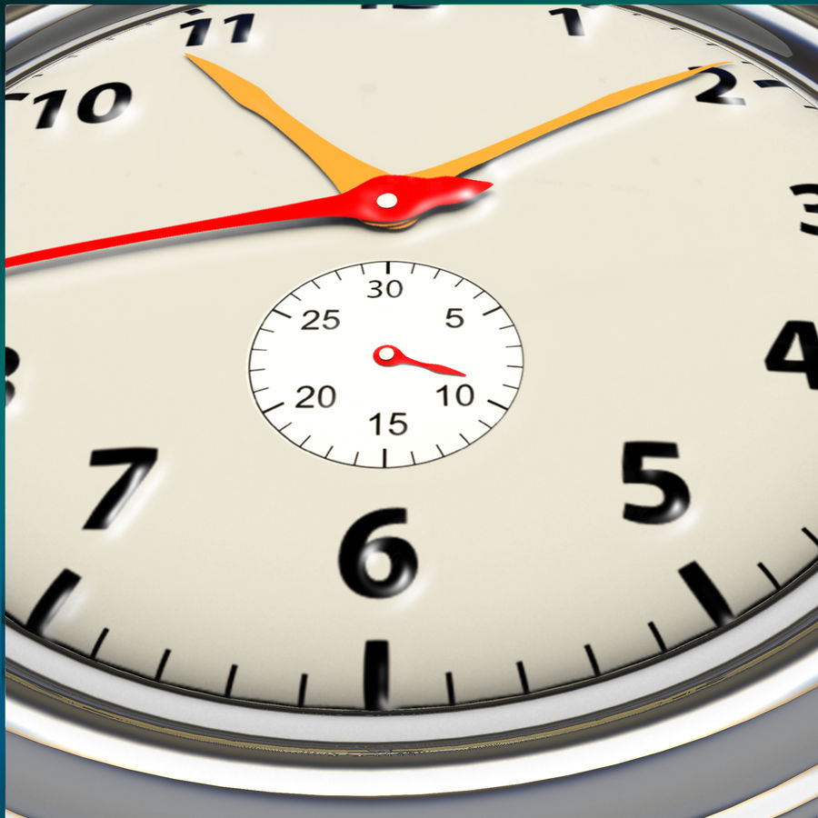 StopWatch royalty-free 3d model - Preview no. 9