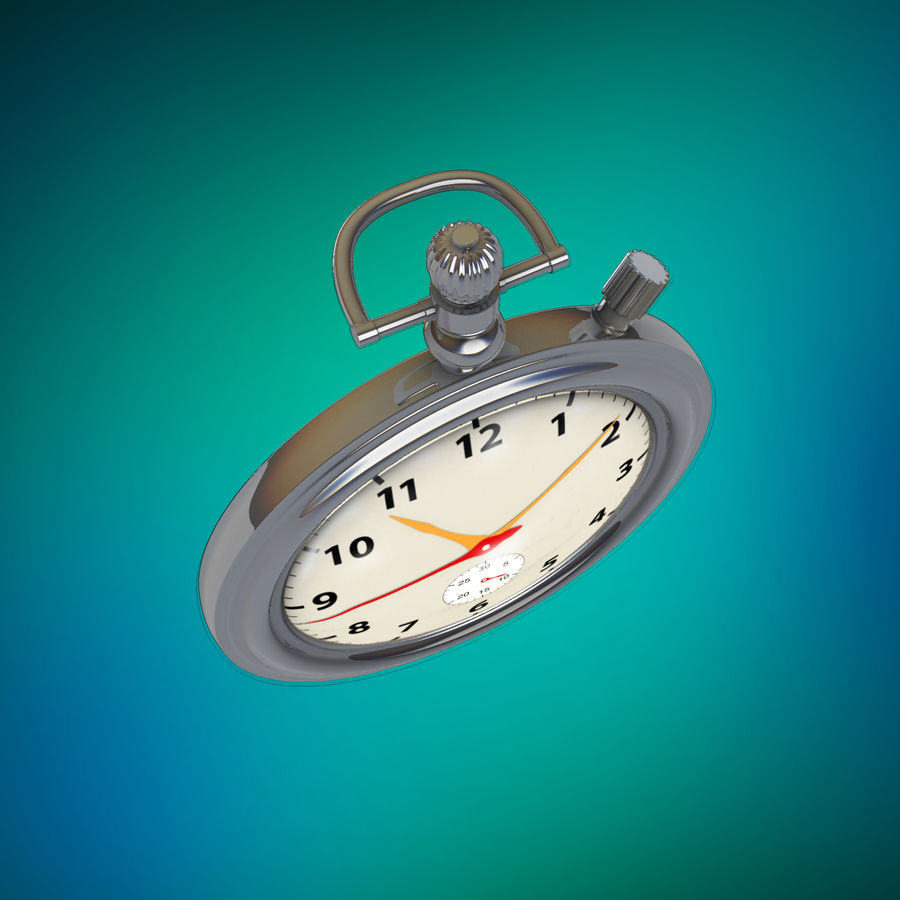 StopWatch royalty-free 3d model - Preview no. 12