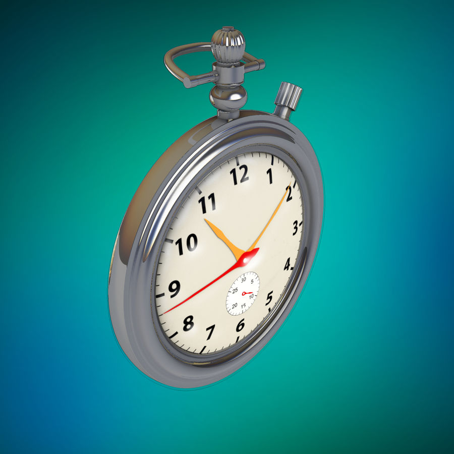 StopWatch royalty-free 3d model - Preview no. 10