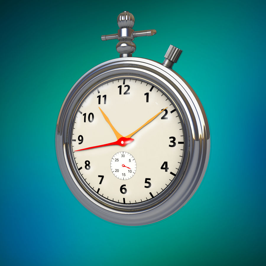 StopWatch royalty-free 3d model - Preview no. 8