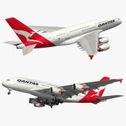 A380 Qantas Airlines 3d model