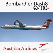 Dash8 Q400 Austrian Airlines 3d model