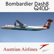 Dash8 Q400 Austrian Airlines 3d model