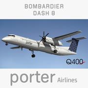 Dash8 Porter Airlines 3d model
