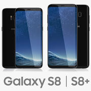 Samsung Galaxy S8 och S8 Plus Svart 3d model