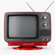 TV retro Toshiba Blackstripe C355C modelo 3d