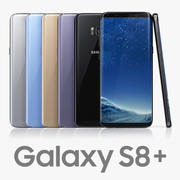 Samsung Galaxy S8 Plus All Colors 3d model